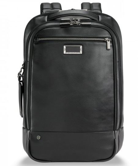 Briggs & Riley @Work Leather Medium Backpack KLP422