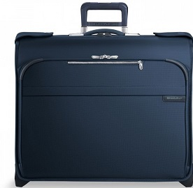 U174NV Briggs & Riley Baseline CX Navy Carry-On Wheeled Garment Bag