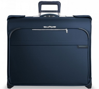U176NV Briggs & Riley Baseline CX Navy Deluxe Wheeled Garment Bag
