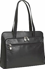 "523265 Kenneth Cole Manhattan Leather ""The Bag Apple"" Ladies Computer Tote"
