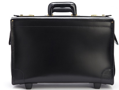 C108418 Litigator 18inch Leather Catalog Case on Wheels